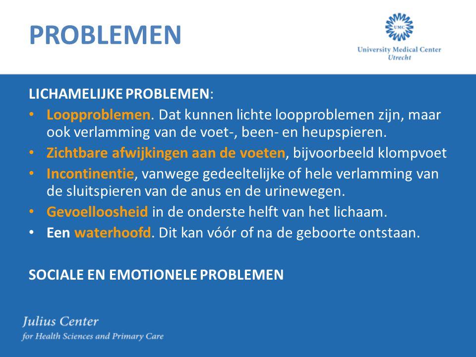 PROBLEMEN LICHAMELIJKE PROBLEMEN:
