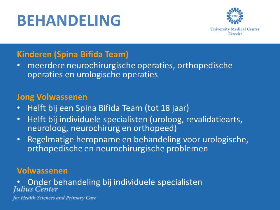 BEHANDELING Kinderen (Spina Bifida Team)