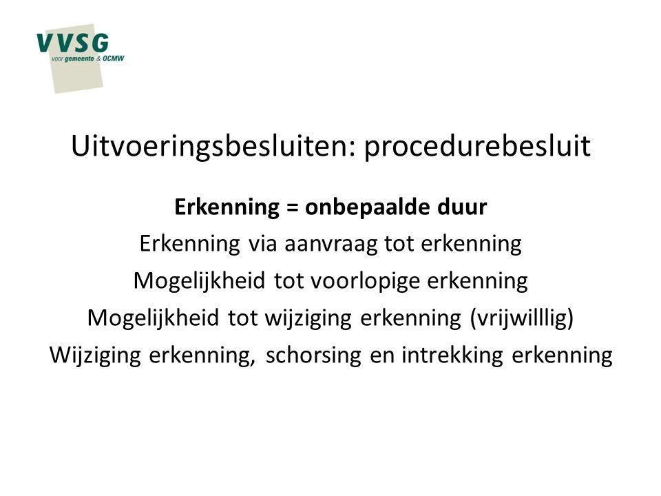 Uitvoeringsbesluiten: procedurebesluit