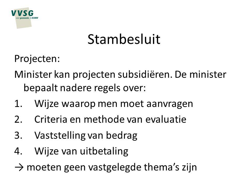 Stambesluit Projecten: