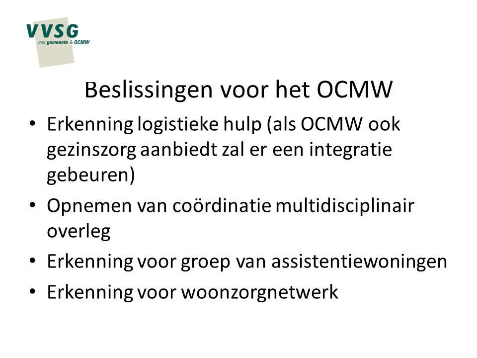 Beslissingen voor het OCMW