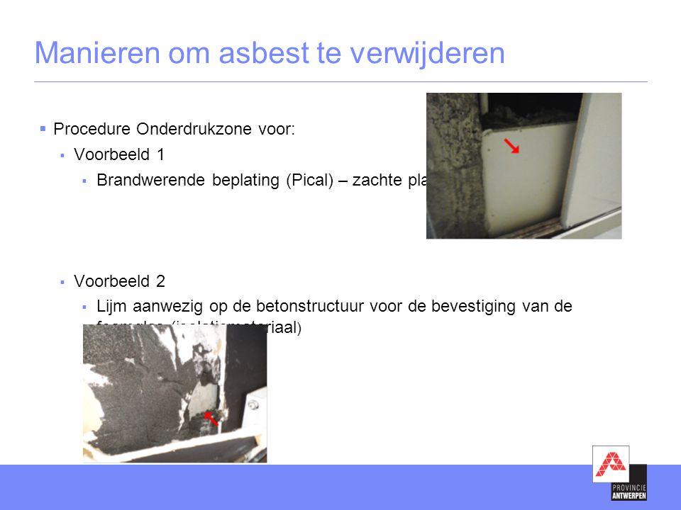 Manieren om asbest te verwijderen