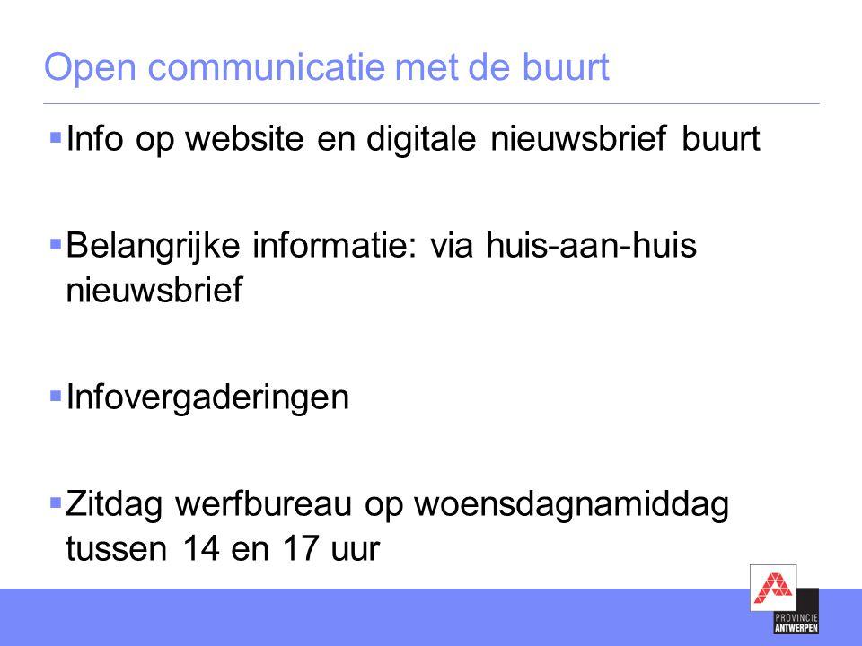 Open communicatie met de buurt