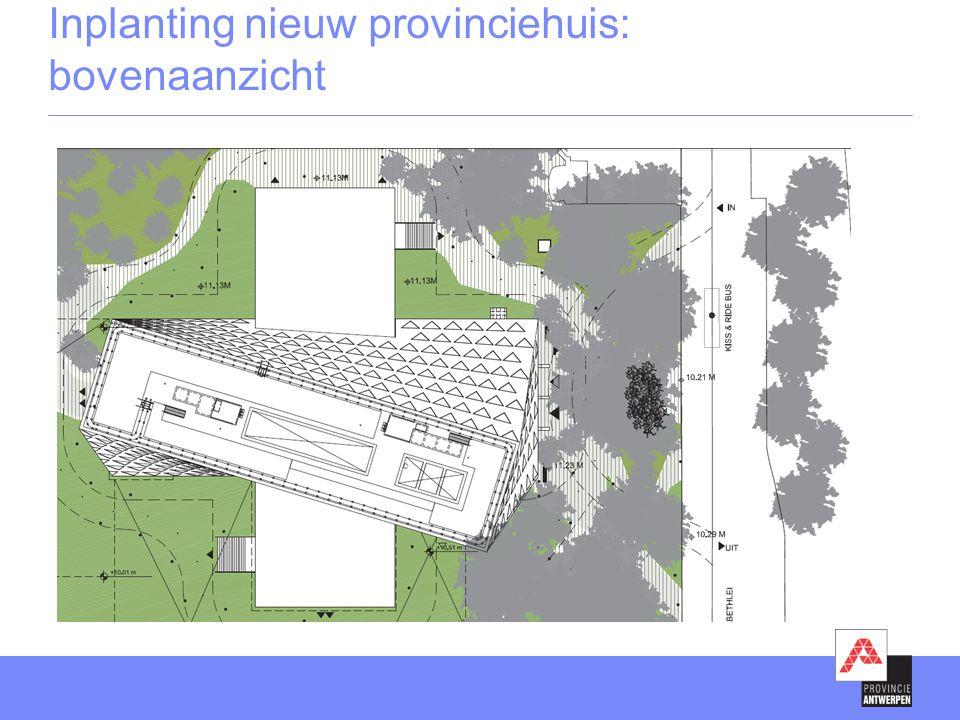 Inplanting nieuw provinciehuis: bovenaanzicht
