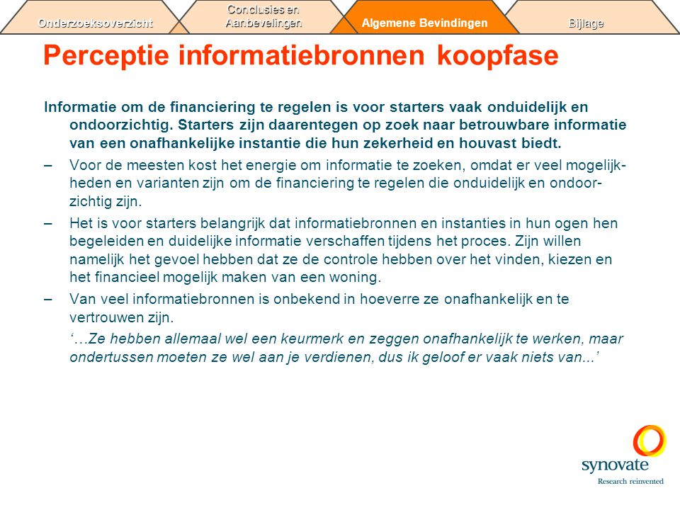Perceptie informatiebronnen koopfase