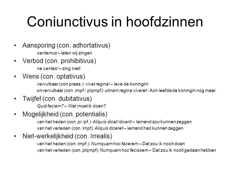 Coniunctivus in hoofdzinnen