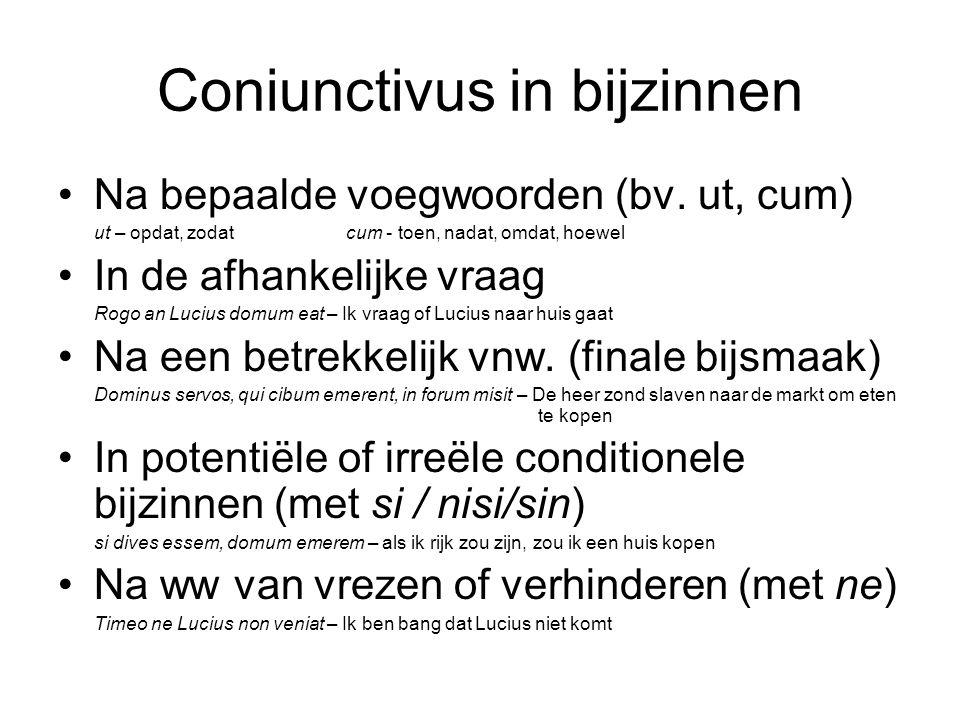 Coniunctivus in bijzinnen