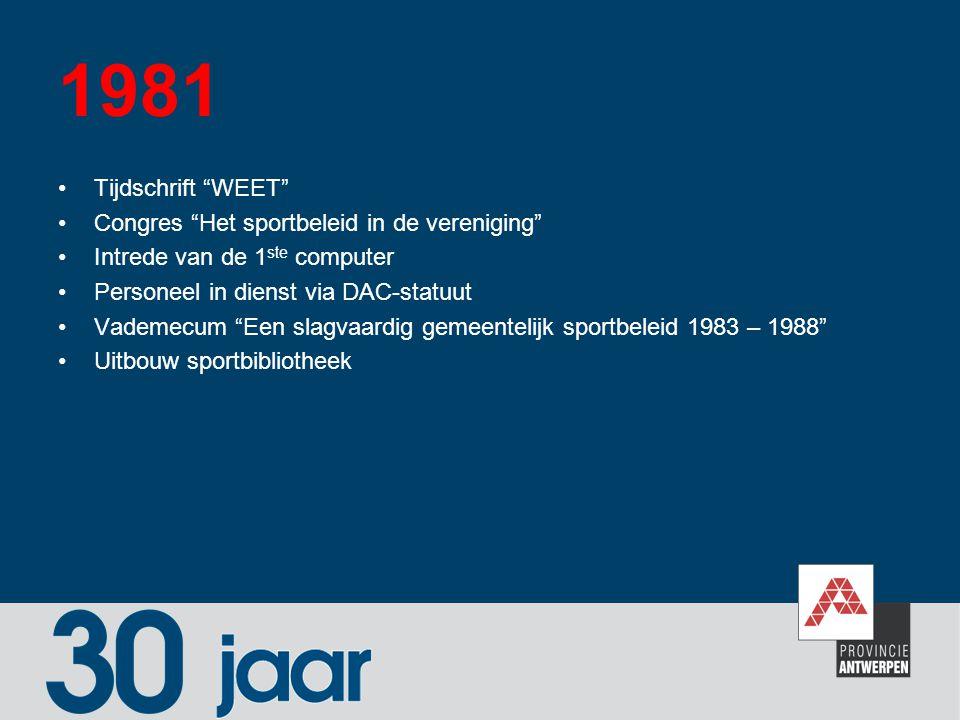 1981 Tijdschrift WEET Congres Het sportbeleid in de vereniging