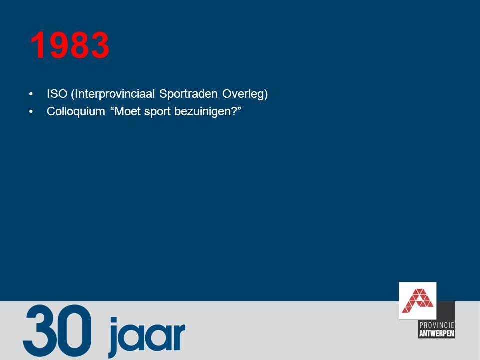 1983 ISO (Interprovinciaal Sportraden Overleg)