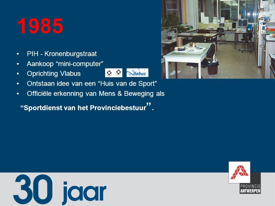1985 PIH - Kronenburgstraat Aankoop mini-computer Oprichting Vlabus
