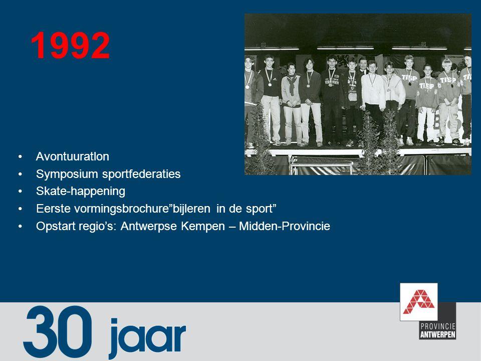 1992 Avontuuratlon Symposium sportfederaties Skate-happening