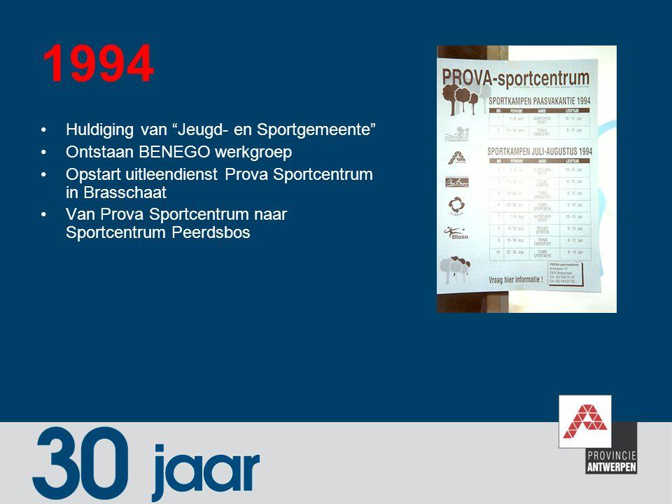1994 Huldiging van Jeugd- en Sportgemeente Ontstaan BENEGO werkgroep