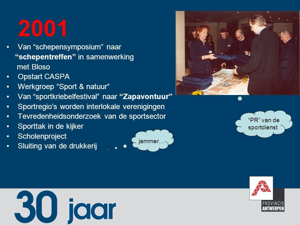 2001 Van schepensymposium naar schepentreffen in samenwerking