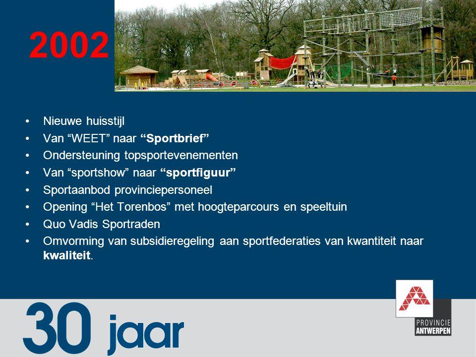 2002 Nieuwe huisstijl Van WEET naar Sportbrief
