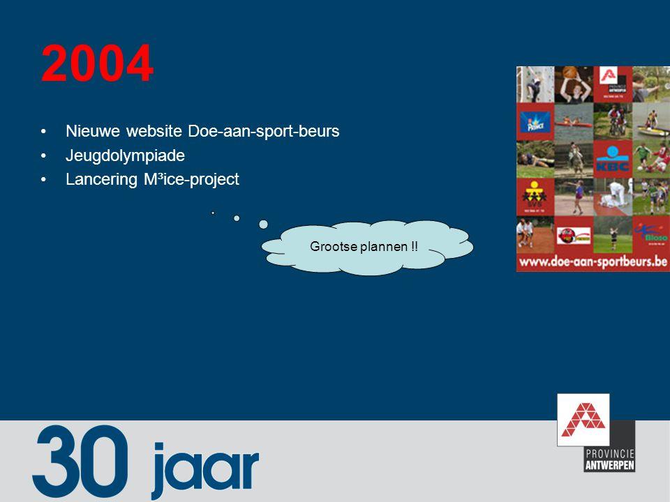 2004 Nieuwe website Doe-aan-sport-beurs Jeugdolympiade