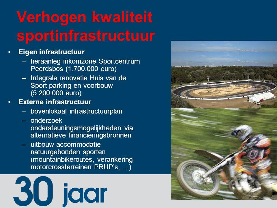 Verhogen kwaliteit sportinfrastructuur