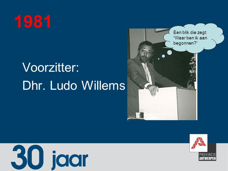 1981 Voorzitter: Dhr. Ludo Willems