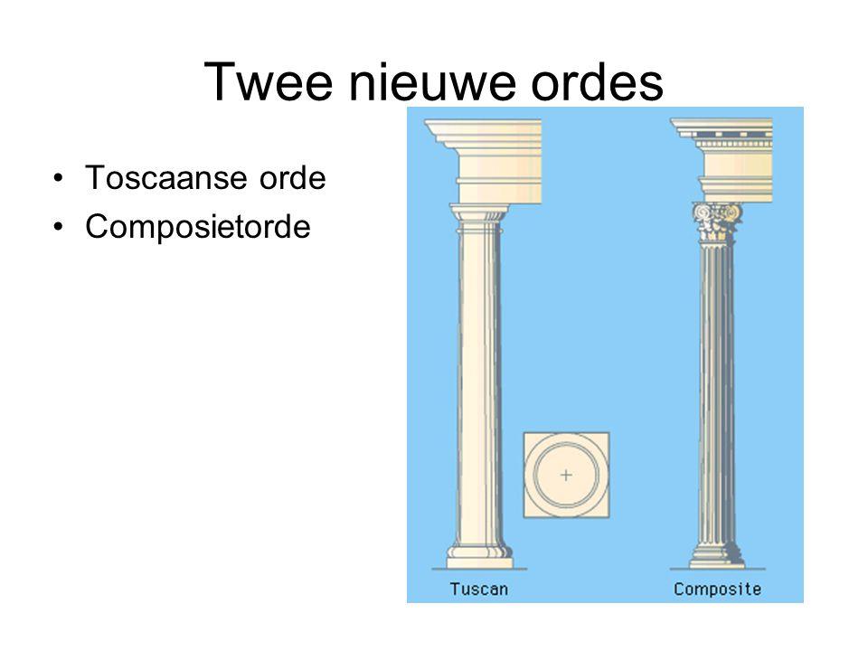Twee nieuwe ordes Toscaanse orde Composietorde