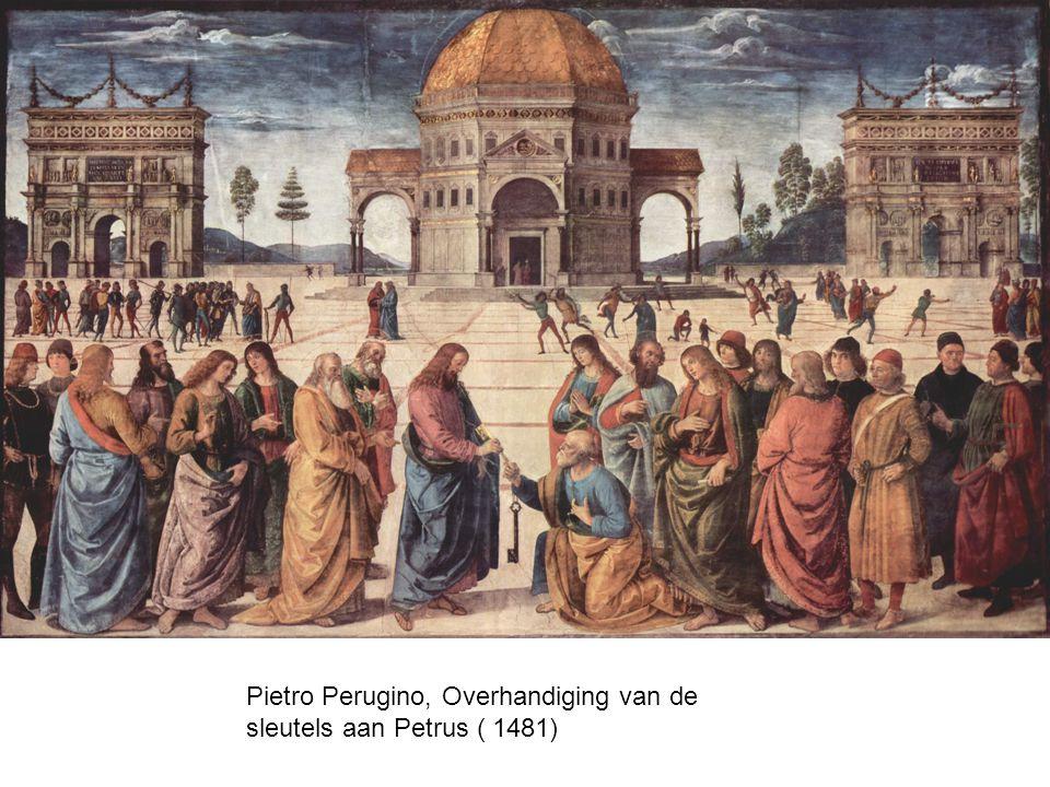 Pietro Perugino, Overhandiging van de sleutels aan Petrus ( 1481)