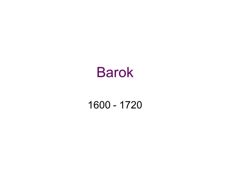Barok 1600 - 1720
