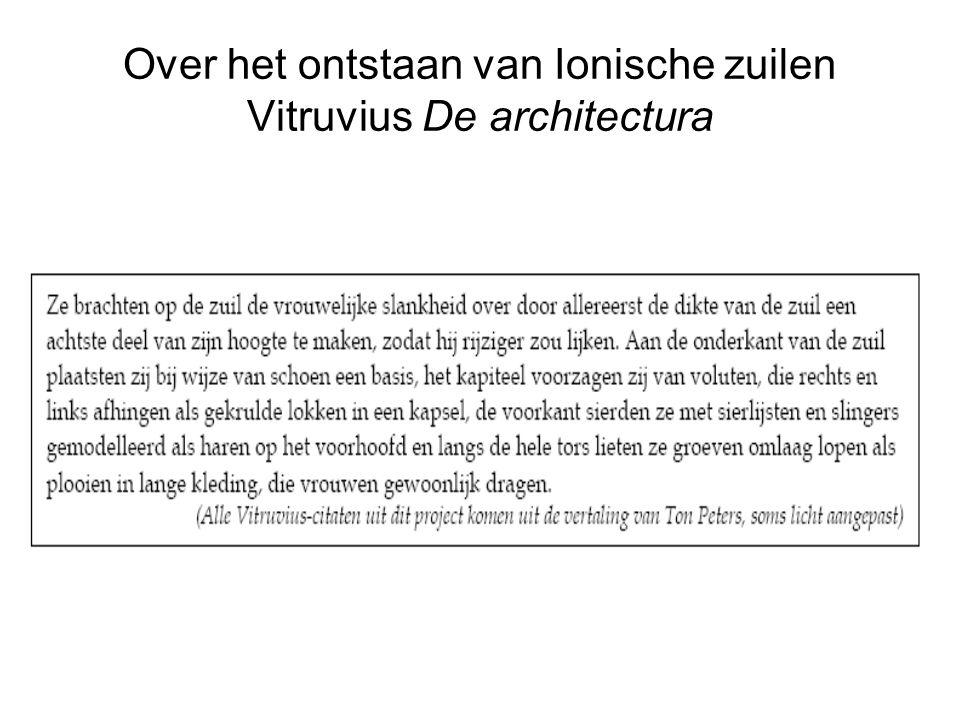 Over het ontstaan van Ionische zuilen Vitruvius De architectura
