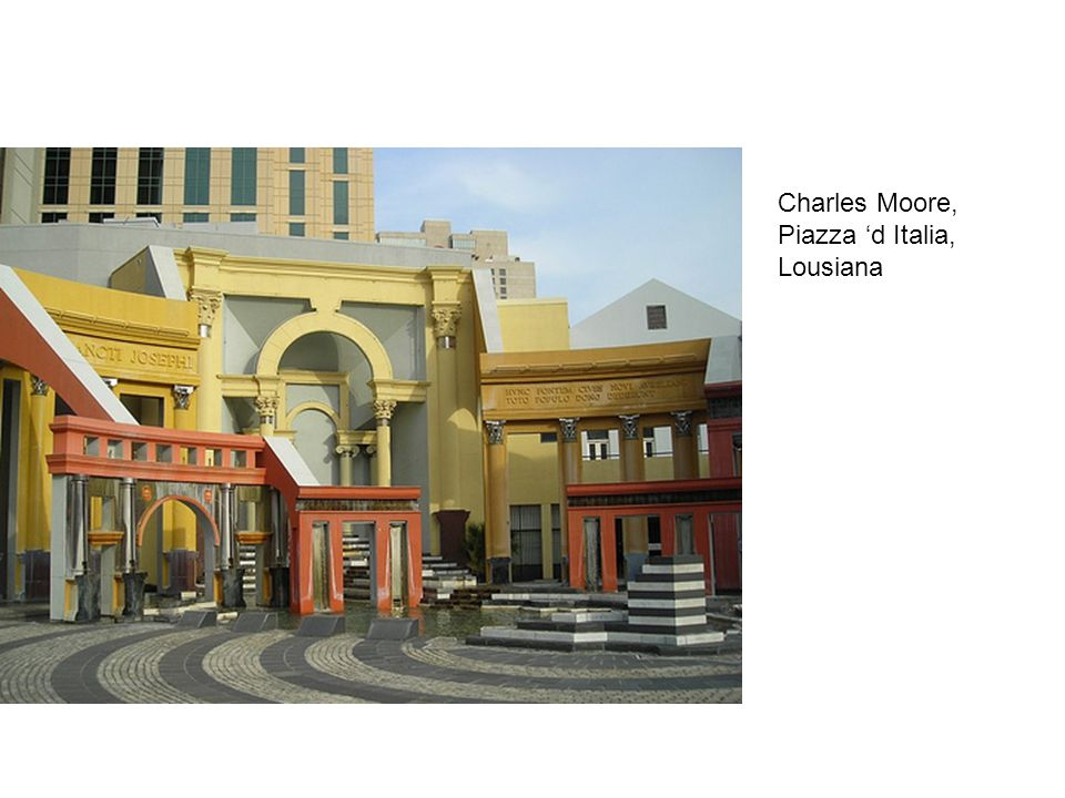 Charles Moore, Piazza 'd Italia, Lousiana