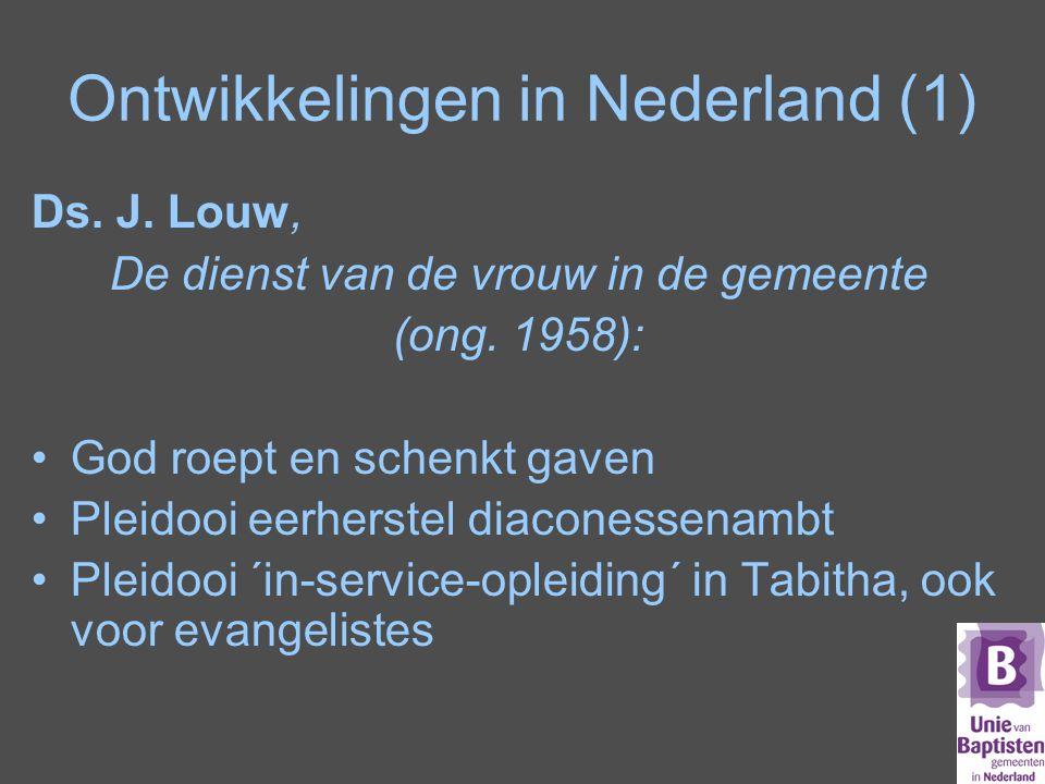 Ontwikkelingen in Nederland (1)
