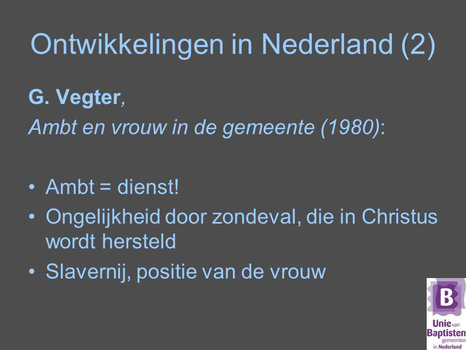 Ontwikkelingen in Nederland (2)