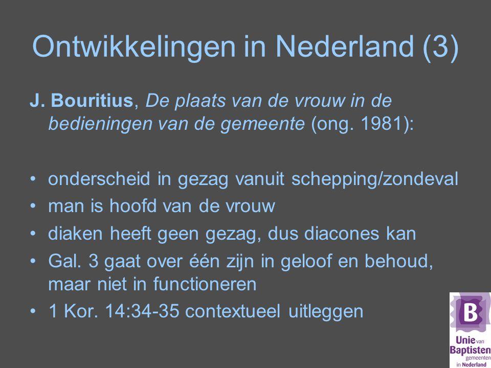 Ontwikkelingen in Nederland (3)
