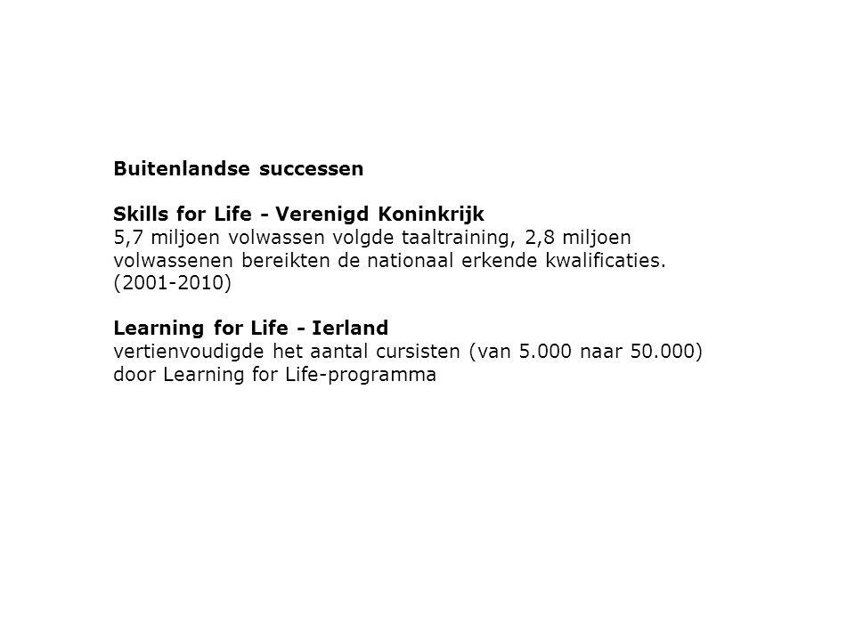 Buitenlandse successen Skills for Life - Verenigd Koninkrijk