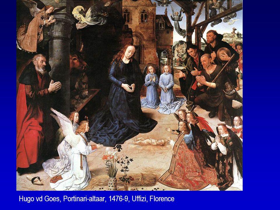 Hugo vd Goes, Portinari-altaar, 1476-9, Uffizi, Florence