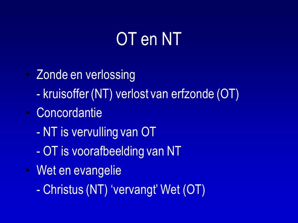 OT en NT Zonde en verlossing