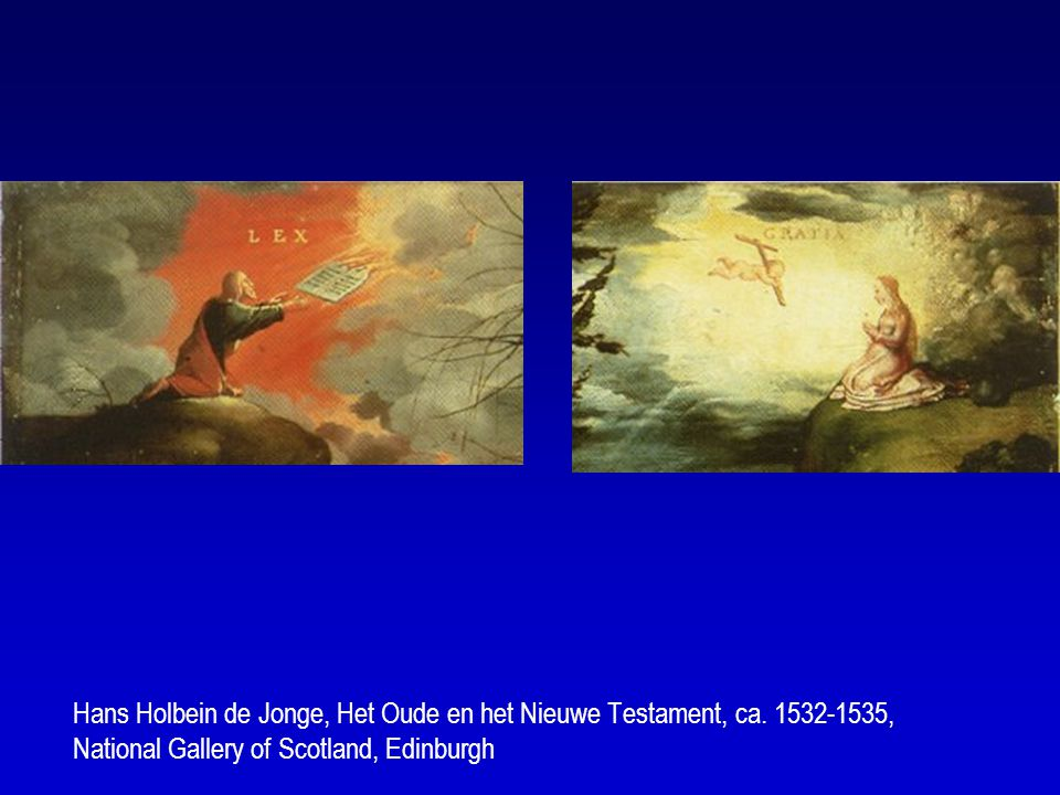 Hans Holbein de Jonge, Het Oude en het Nieuwe Testament, ca