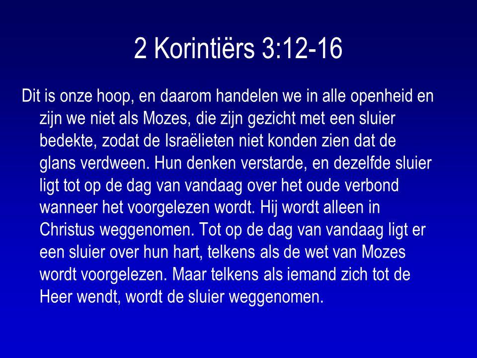 2 Korintiërs 3:12-16