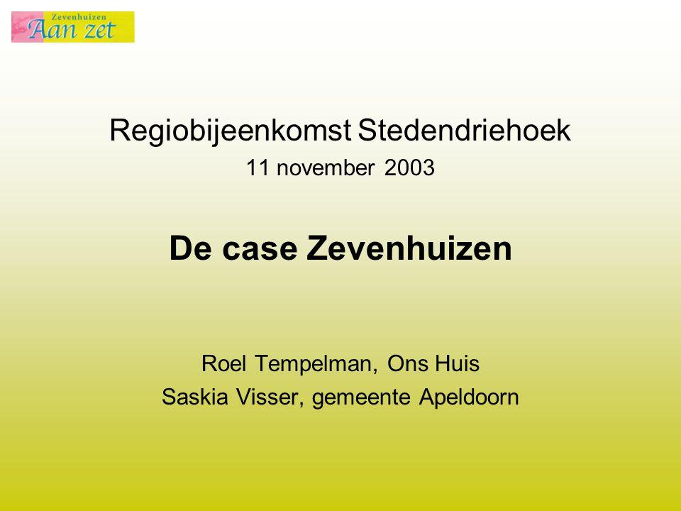 De case Zevenhuizen Regiobijeenkomst Stedendriehoek 11 november 2003