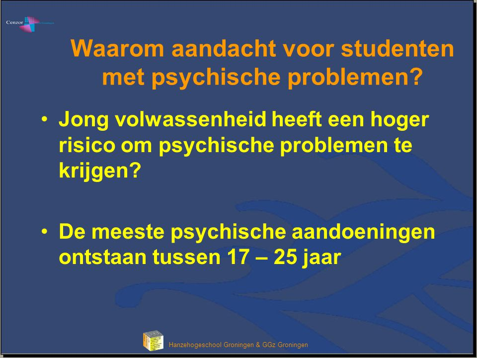 Waarom aandacht voor studenten met psychische problemen