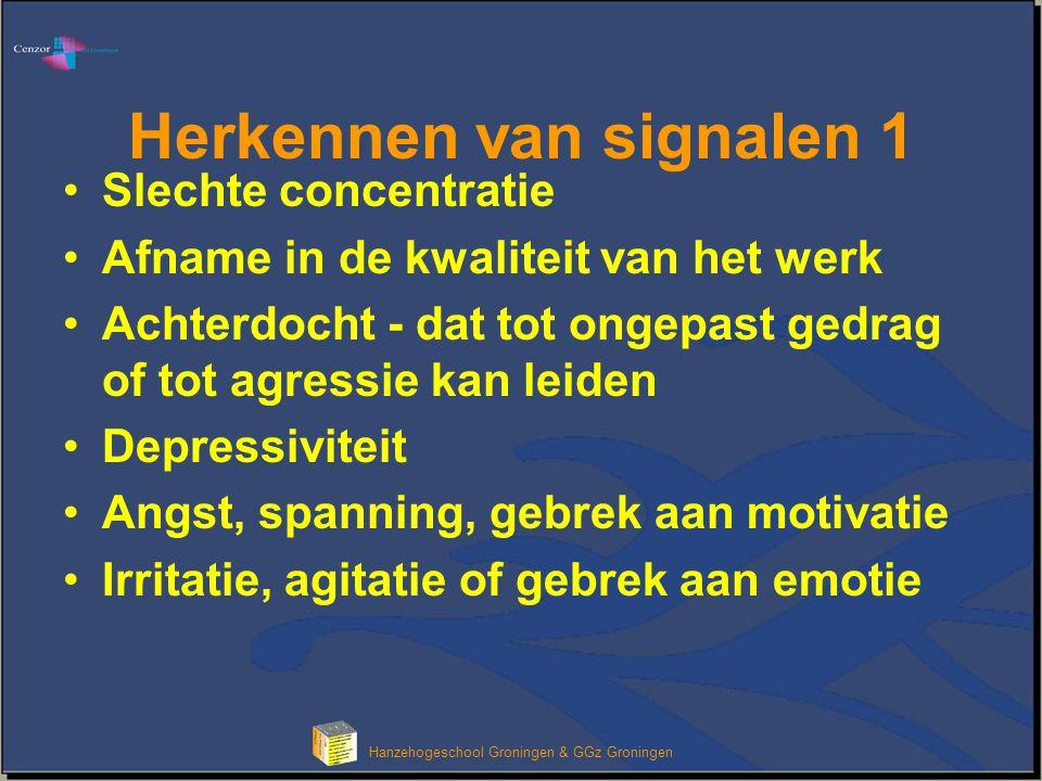 Herkennen van signalen 1