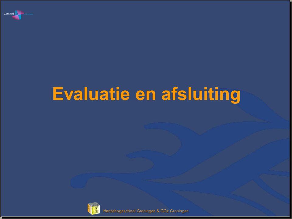Evaluatie en afsluiting