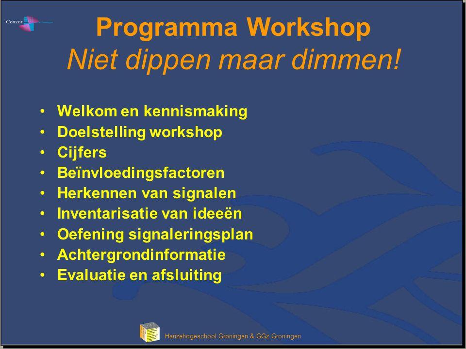 Programma Workshop Niet dippen maar dimmen!