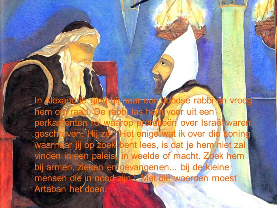 In Alexandrië ging hij naar een Joodse rabbi en vroeg hem om raad