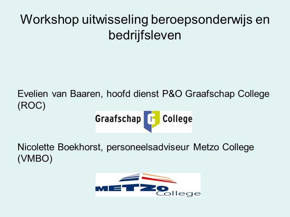 Workshop uitwisseling beroepsonderwijs en bedrijfsleven