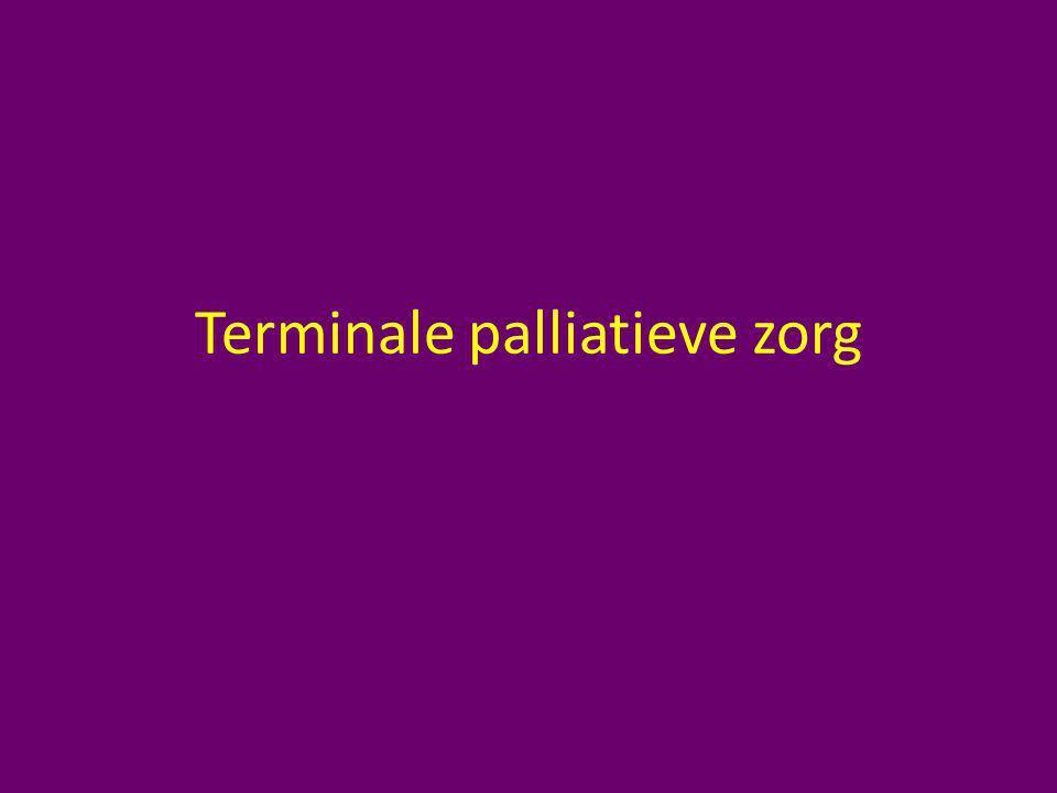 Terminale palliatieve zorg