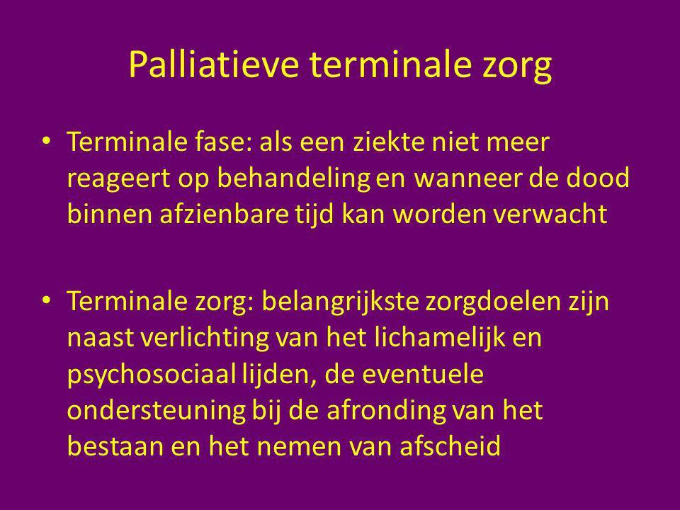 Palliatieve terminale zorg