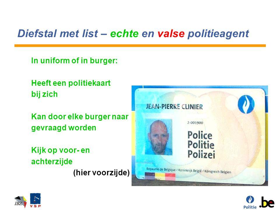Diefstal met list – echte en valse politieagent