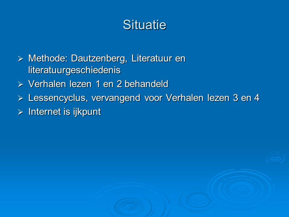Situatie Methode: Dautzenberg, Literatuur en literatuurgeschiedenis