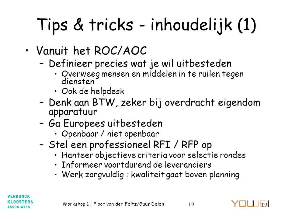 Tips & tricks - inhoudelijk (1)