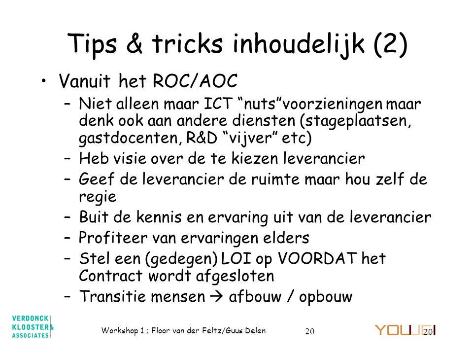 Tips & tricks inhoudelijk (2)