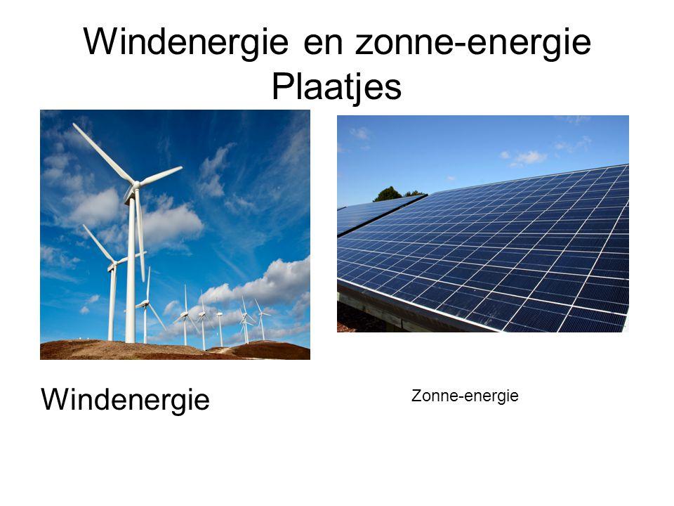 Windenergie en zonne-energie Plaatjes
