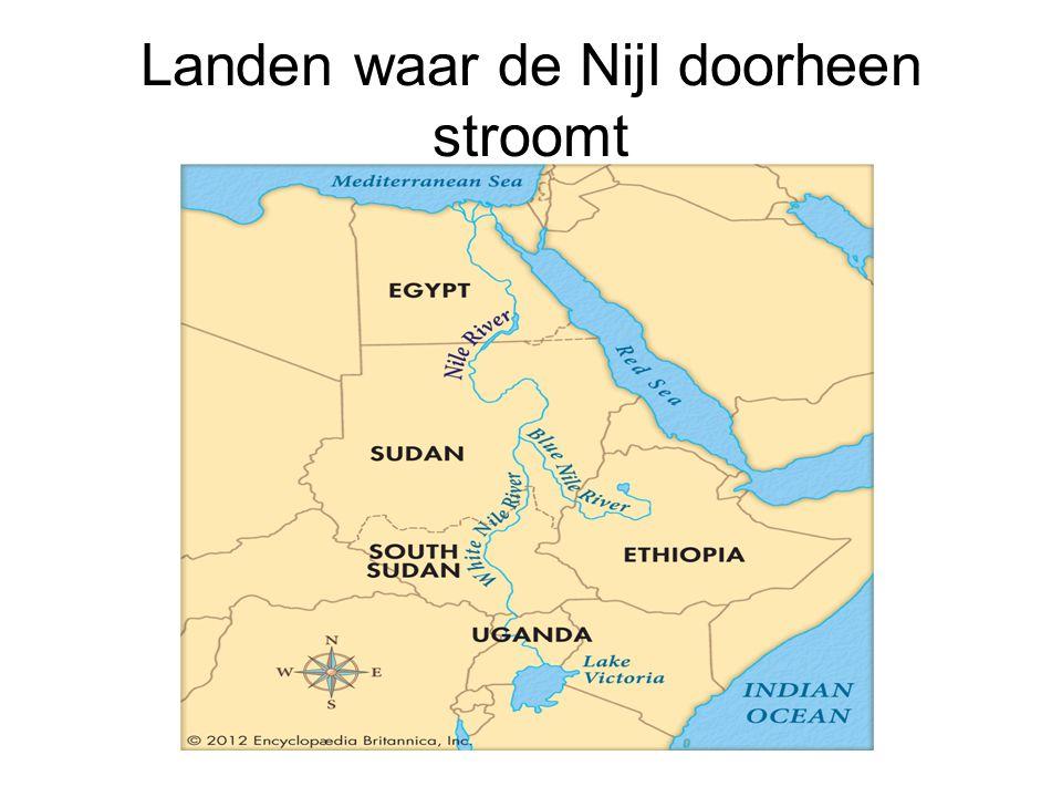 Landen waar de Nijl doorheen stroomt
