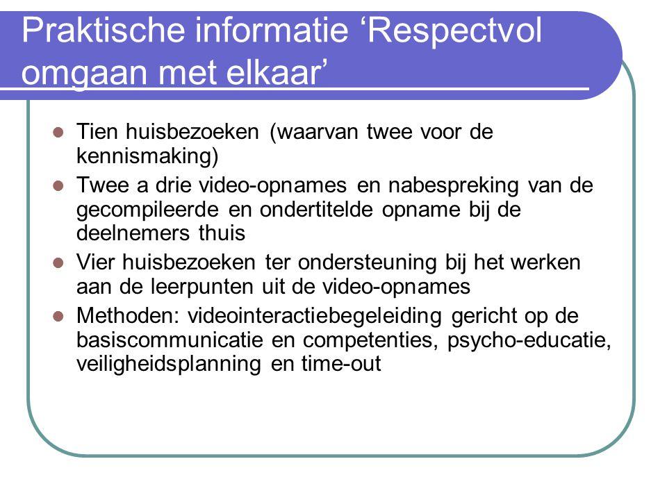 Praktische informatie 'Respectvol omgaan met elkaar'